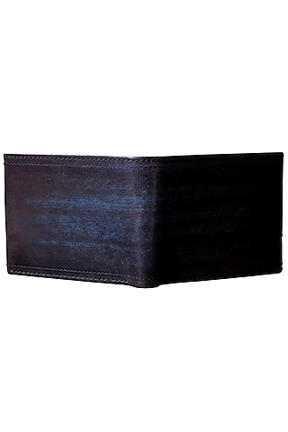 Black Hand Painted Leather Wallet by Doux Amour