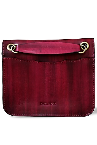 Ruby Red Hand Painted Crossbody Bag by Doux Amour