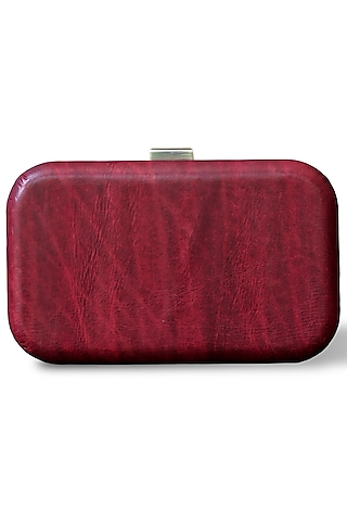 Ruby Red Hand Painted Clutch by Doux Amour