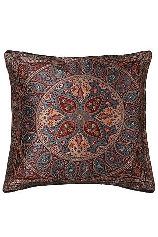 Blue Saadh Cushion With A Filler by Ritu Kumar Home