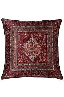 Red Saadh Cushion With A Filler by Ritu Kumar Home