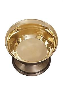 Gold Shiny Brass Dessert Bowl by Ritu Kumar Home