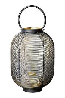 Black Oval Wireframe Lantern by Ritu Kumar Home