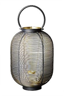 Black Oval Wireframe Lantern by Ritu Kumar Home