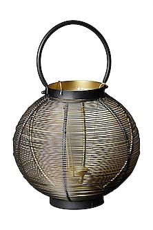 Black Round Wireframe Lantern by Ritu Kumar Home