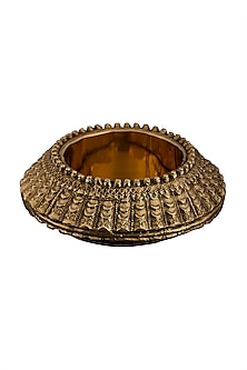 Brass Flicker Round Lamp Base by Ritu Kumar Home