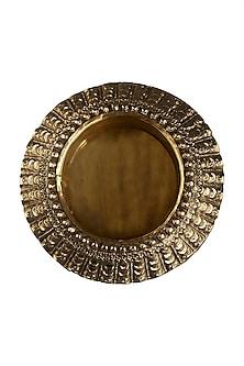 Brass Flicker Round Lamp Base by Ritu Kumar Home