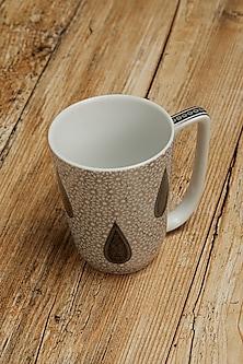 Black Awadh Porcelain Round Mug by Ritu Kumar Home