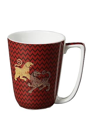 Red Baagh Mug by Ritu Kumar Home