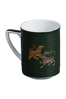 Black Baagh Mug (Set Of 2) by Ritu Kumar Home