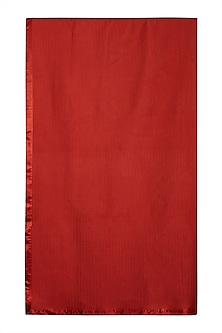 Red Baagh Double Bed Coverlet by Ritu Kumar Home