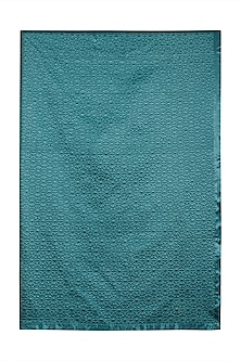 Teal Jal Mahal King Bed Coverlet by Ritu Kumar Home