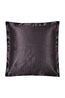 Black Agora Square Cushion With Filler by Ritu Kumar Home