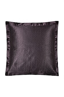 Black Agora Square Cushion With Filler by Ritu Kumar Home