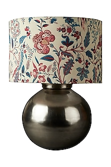 Grey Brass Flicker Lamp Base by Ritu Kumar Home