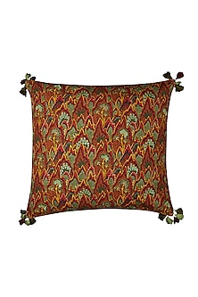 Multicolor Baagh Euro Sham With Filler by Ritu Kumar Home
