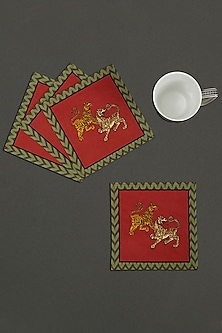 Baagh Cocktail Napkin (Set of 4) by Ritu Kumar Home