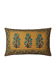 Yellow Jal Mahal Pillow Cover by Ritu Kumar Home