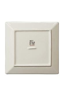 Rust Banki Ceramic Square Platter (Set of 2) by Ritu Kumar Home
