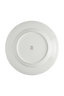 Ivory & Maroon Baagh Dinner Plate (Set of 4) by Ritu Kumar Home