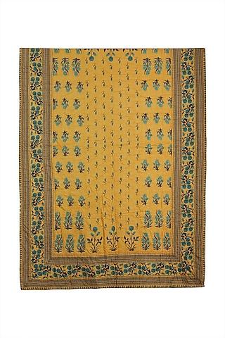 Yellow Jal Mahal Quilt by Ritu Kumar Home