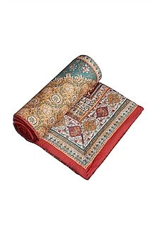 Multicolored Kalamkari Quilt by Ritu Kumar Home