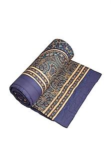 Royal Blue Jaamevar Quilt by Ritu Kumar Home