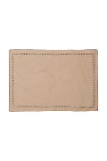 Nude Chidambaram Rectangle Placemat (Set of 4) by Ritu Kumar Home