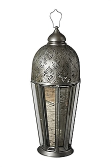 Silver Outdoor Glasshouse Lantern by Ritu Kumar Home