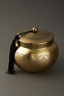 Brass Awadh Scented Votive by Ritu Kumar Home