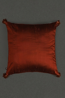 Rust Quilted Core Cushion With Filler by Ritu Kumar Home