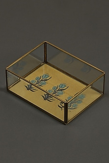 Yellow Jal Mahal Trays (Set of 2) by Ritu Kumar Home
