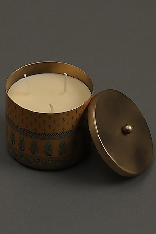 Yellow Jal Mahal Votive by Ritu Kumar Home