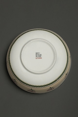 Beige Uttam Serving Bowls (Set of 2) by Ritu Kumar Home