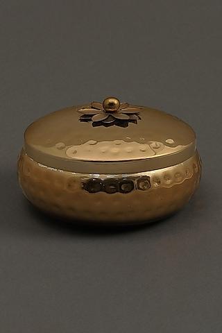 Golden Brass Tin Mogra Votive by Ritu Kumar Home