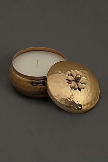 Golden Brass Tin Mogra Votive by Ritu Kumar Home