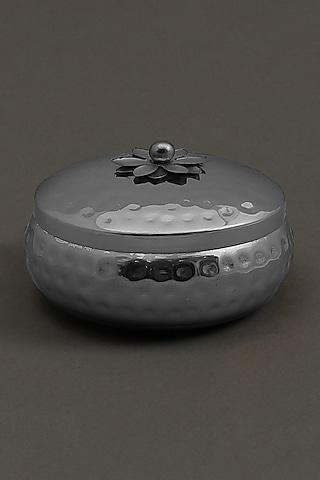 Silver Brass Tin Mogra Votive by Ritu Kumar Home
