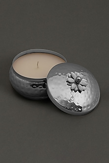 Silver Brass Tin Mogra Votive by Ritu Kumar Home