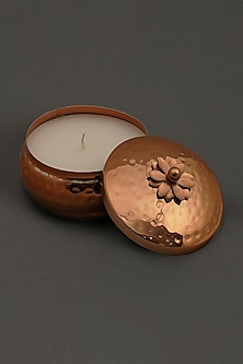 Copper Jasmine Tea Votive by Ritu Kumar Home
