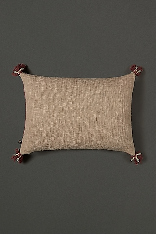 Rust Red Printed Cushion WIth Filler by Ritu Kumar Home