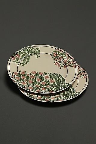 Beige Uttama Side Plates (Set of 2) by Ritu Kumar Home
