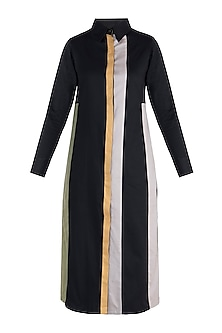 Jet black shirt dress by DOOR OF MAAI