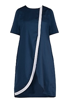 Navy blue tunic dress by DOOR OF MAAI
