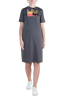 Grey midi dress by DOOR OF MAAI