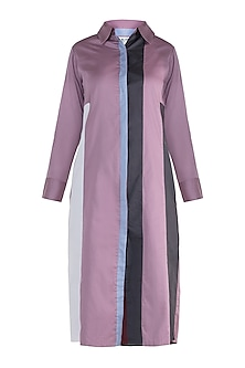 Mauve shirt dress by DOOR OF MAAI
