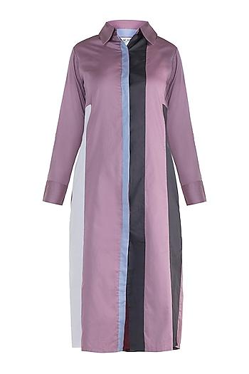 Mauve shirt dress by DOOR OF MAAI