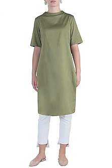 Military green mini dress by DOOR OF MAAI