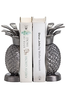 Antique Silver Aluminum Pineapple Bookends (Set of 2) by Sammsara