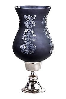 Black Aluminum & Glass Handcrafted Hurricane Candle Holder by Sammsara