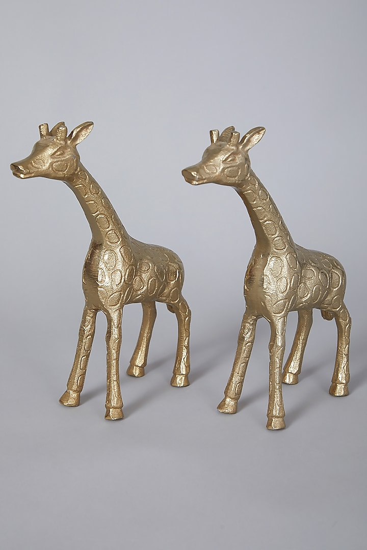 Gold Decor Pieces (Set of 2) by Thoa